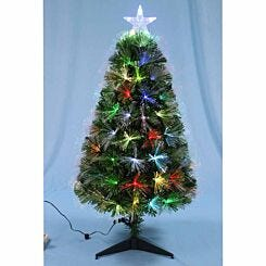 Green Fibre Optic 3ft Tree with Top Star