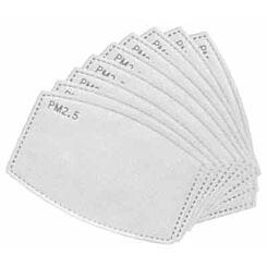 Replacement PM 2.5 Filters for Cotton Face Mask Pack of 10