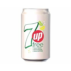 7 Up Free Lemon and Lime Canned 330ml Pack of 24