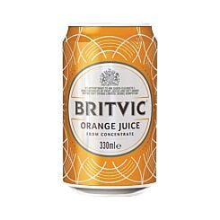 Britvic Orange Juice 330ml Can Pack of 24