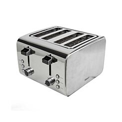 Igenix 4 Slice Toaster Stainless Steel Brush and Polish