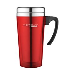 ThermoCafe Thermos Translucent Travel Mug 420ml Red
