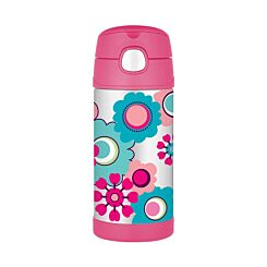 Thermos FUNtainer Straw Bottle 355ml Floral