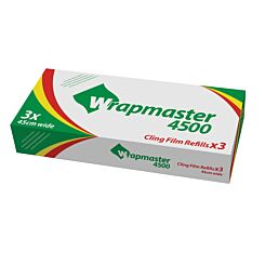Wrapmaster 4500 Cling Film Refill 45cm x 30m Pack of 3
