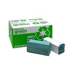 Maxima Green 1 Ply C Fold Hand Towels 20x144