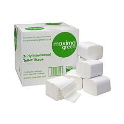 Maxima Green Bulk Pack Toilet Tissue 2 Ply Pack of 36