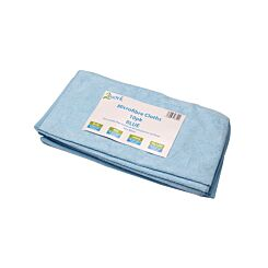 2Work Microfibre Cloth Blue 400 x 400mm Pack of 10