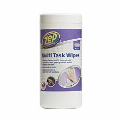 Zep Commercial Multi Task Anti-Bacterial Wipes 100 Piece Tub