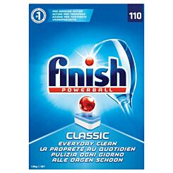 Finish Classic Dishwasher Cleaner Regular Pack of 110