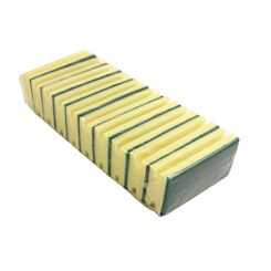 Sponge Scourers Pack of 10 Green and Yellow