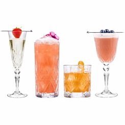 RCR Melodia Luxion Crystal Drinkware Collection Set of 24