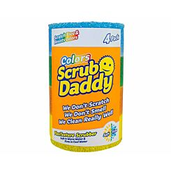 Scrub Daddy Scrubbing Sponge Assorted Colours 4 Pack