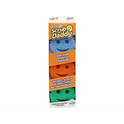 Scrub Daddy Scrubbing Sponge Assorted Colours 3 Pack