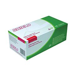 Shield Disposable Natural Latex Gloves Powder-Free Large Pack of 100
