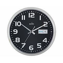 Acctim Supervisor Date Day Wall Clock Black/Silver