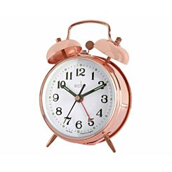 Acctim Selworth Double Bell Alarm Clock Rose Gold