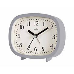 Acctim Hilda Alarm Clock Pigeon Grey