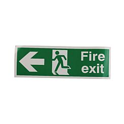 Safety Sign Fire Exit Running Man Arrow Left