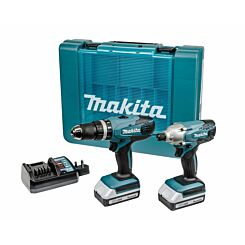 Makita G Series 18V 2 Piece Cordless Combo Drill and Impact Driver Kit Plus 2 Batteries and Charger
