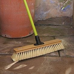 Charles Bentley Wooden Garden Brush 18-inch