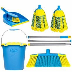Wham Flash Floor Clean Kit with Mighty Mop and Bucket