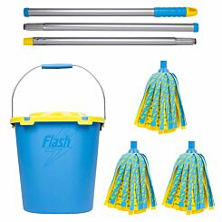Wham Flash Lightning Mop with 2 Refills and Mop Bucket