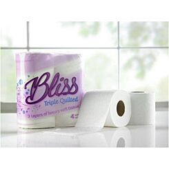 Bliss Toilet Roll 3ply Pack of 4