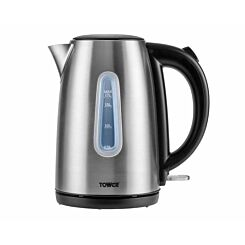 Tower Jug Kettle Brushed Stainless Steel	 1.7L 3000W