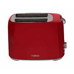 Tower 2 Slice Toaster Red
