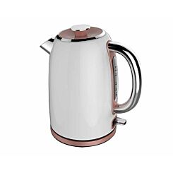Tower Rose Gold Edition Stainless Steel Jug Kettle 1.7L White