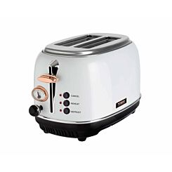 Tower 2 Slice Rose Gold Edition Stainless Steel Toaster White