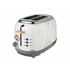 Tower 2 Slice Rose Gold Edition Stainless Steel Toaster Marble