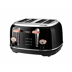 Tower 4 Slice Rose Gold Edition Stainless Steel Toaster
