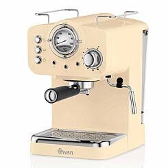 Swan Retro Espresso Coffee Machine Cream