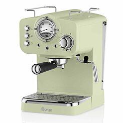Swan Retro Espresso Coffee Machine Green