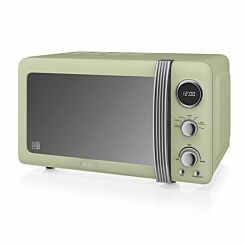 Swan Retro Digital Microwave 20L 800W Green