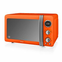 Swan Retro Digital Microwave 20L 800W Orange