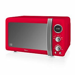 Swan Retro Digital Microwave 20L 800W Red