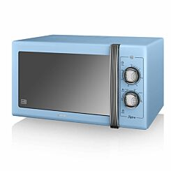 Swan Retro Manual Microwave 20L 800W Blue
