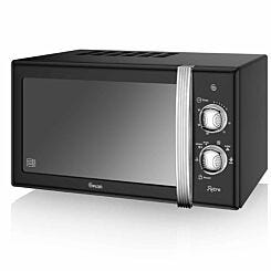 Swan Retro Manual Microwave 20L 800W Black