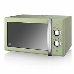 Swan Retro Manual Microwave 20L 800W Green