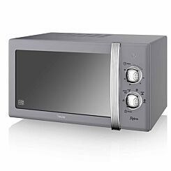 Swan Retro Manual Microwave 20L 800W Grey