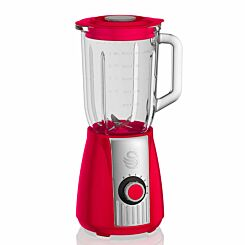 Swan Retro Stand Blender 600W Red