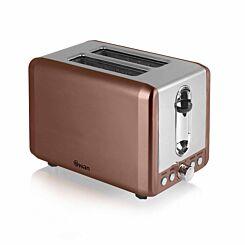 Swan 2 Slice Stainless Steel Toaster