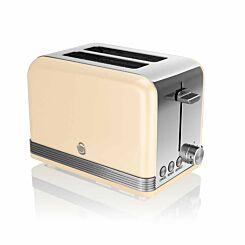 Swan Retro 2 Slice Toaster 815W Cream
