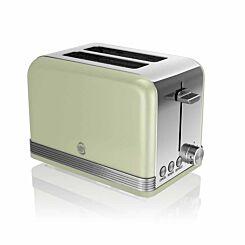 Swan Retro 2 Slice Toaster 815W Green