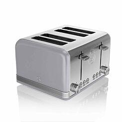 Swan 4 Slice Retro Toaster 1600W