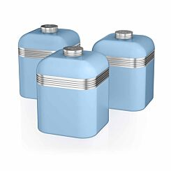 Swan Retro Canisters Set of 3 Blue