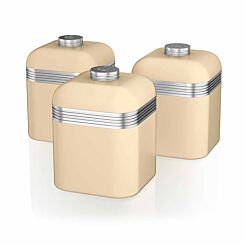 Swan Retro Canisters Set of 3 Cream
