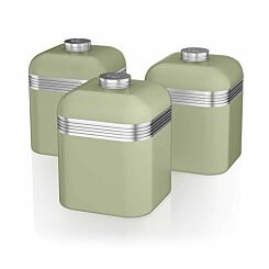 Swan Retro Canisters Set of 3 Green